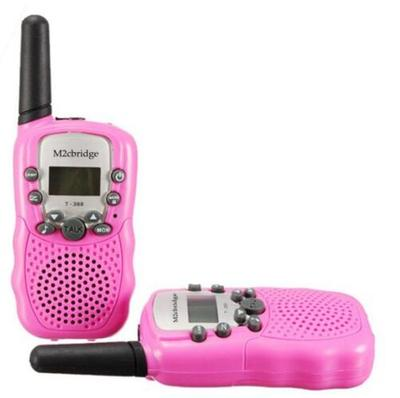 M2cbridge 1 Pair Kids Walkie Talkies Portable 2 Way Radio Toy 22 Channel 402-467MHz Pink