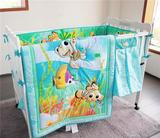 Nemo Ocean Baby Crib Bedding Set Quilt Bumper Sheet Crib Skirt Diaper Bag 5pcs