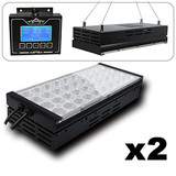 M2CBRIDGE 2X LED AQUARIUM LIGHTS FOR SALTWATER CORAL REEF MARINE FISH TANKS WITH 1 CONTROLLER , 40 L