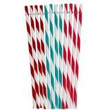M2cbridge BPA-Free Plastic Thick Drinking Straws 12 Piece Mason Jar Straws Stripe Mix Color