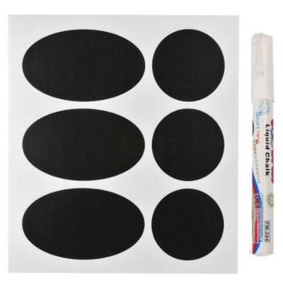 M2cbridge Reusable Chalkboard Labels/chalkboard Stickers with White Chalk Pen Marker pack of 36 Piec